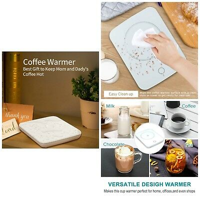 Electric Mug Warmer Coffee Bowl Heat Hot Cocoa Tea Water Espresso Cup Beverages