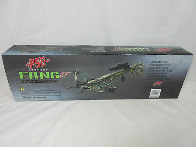 PSE Fang LT Crossbow package Mossy Oak Camo 330 fps 165lbs
