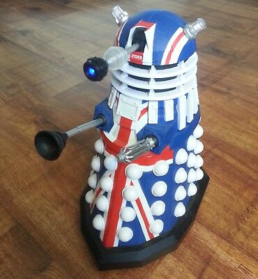 "Dr Who Union Jack Dalek Light & Sound Electronic 12"" Figure 50Th Anniversary"