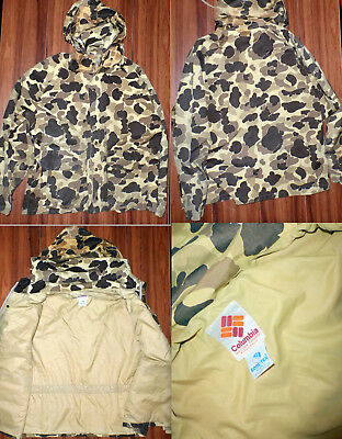 Vintage Columbia Gore-Tex Duck Hunting Hooded Parka Woodland Jacket Size L