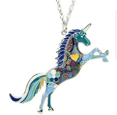 NEW! Beautiful Multi-Color Unicorn Girls Necklace! The Perfect Gift!