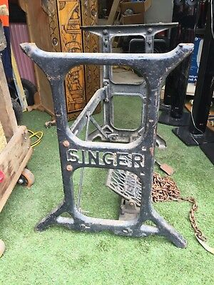 Singer Vintage Antique Industrial Sewing Machine Cast Iron Frame