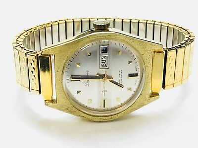 Vintage Lucerne Day & Date Calendar Men's Mechanical Windup Wrist Watch(S709J)