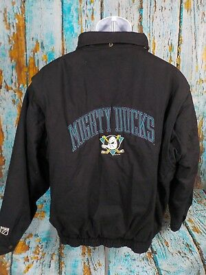 1f8691a34 Vintage Logo 7 Anaheim Mighty Ducks (Large) Zip Up Heavy Jacket Disney 1 of  7 See More