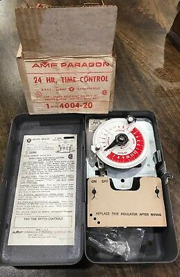 new AMF Paragon 24 hour timer Control model 4004-20 Made In The USA