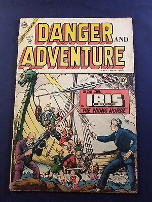 DANGER AND ADVENTURE #22 G Charlton GOLDEN AGE 1 BOOK LOT IBIS THE INVINCIBLE NR
