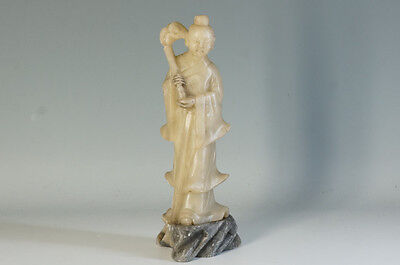 Asian Antique China Ancient Sage Statue 23 cm Stone Carving Free Ship 989f39