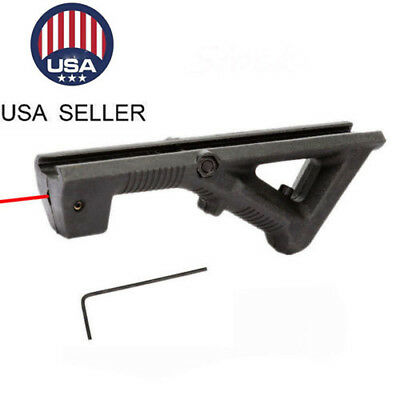 US Tactical Angled Foregrip Front Grip Red Dot Laser Sight for Picatinny Rail