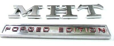 Mht Forged Edition Individual  Chrome Letters Stickers *  (For 2 Stickers)