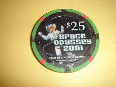 "State Line Casino  Nv ""space Odessey 2001"" $25 Casino Chip (Ltd 65) - Mint"