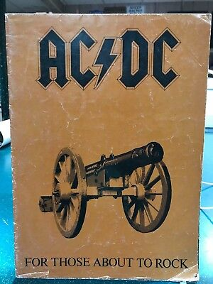 AC/DC For Those About To Rock Tour Poster Book 1981 Authentic