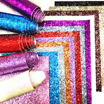 Silver Glitter Stairs Fabric Wallpaper Border 3D Wall Sticker Self Adhesive Roll