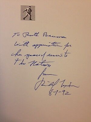 Richard Nixon - SIGNED, nicely inscribed - Seize the Moment - First edition book