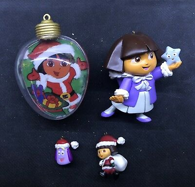 Dora The Explorer Christmas Ornament Lot