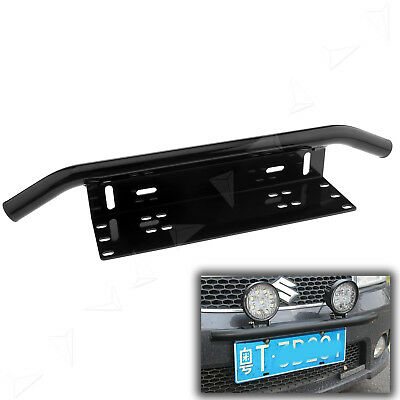 Car License Frame Number Plate Bull Bar Bumper Mount Bracket LED Driving Light