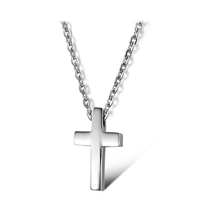 Fashion Unisex 316L Stainless Steel Cross Chain Pendant Necklace Gift GX796