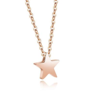 Fashion Unisex 316L Stainless Steel Star Chain Pendant Necklace Gift GX771