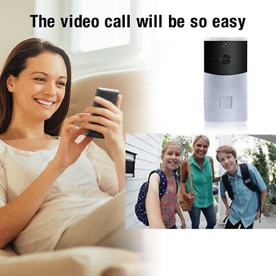 Smart Wireless WiFi Door bell Kit Video Camera Phone Ring Intercom Home Security