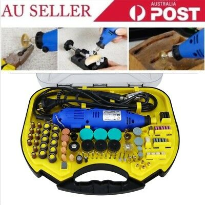211Pcs Electric Drill&Grinder Polish Dremel Tool Kit Variable Speeds Rotary HO