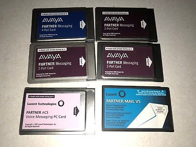 AVAYA Partner LOT of 6 card-Perfect working order...