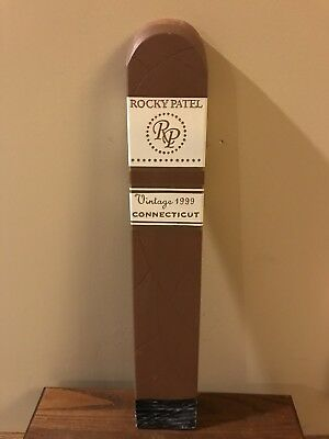 Rocky Patel Cigars Figural Advertising Sign Connecticut 1999 Man Cave