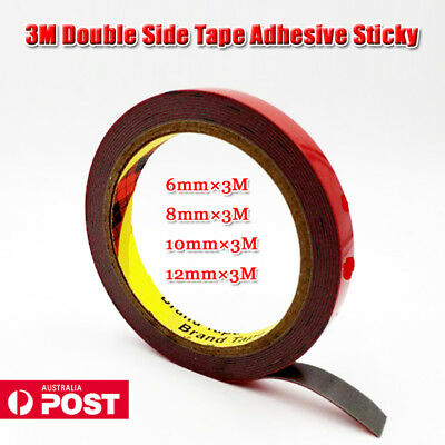 3M Tape Double Side Adhesive Sticky 6mm,8mm,10mm,12mm For Automotive Usage AU
