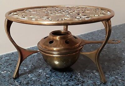 Vintage Brass Warmer Serving Chaffing Stand