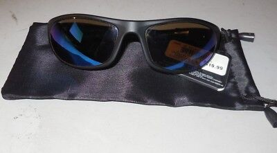 ec2017b6d9 Foster Grant IronMan Ironflex 3 Blue Mirror Lens Sunglasses Black Pouch w  Defect