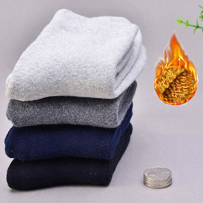 1 Pair Mens Thicken Thermal Wool Cashmere Casual Winter Warm Soft Outdoor Socks