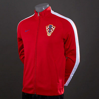 NIKE CROATIA N98 Authentic Soccer Track Jacket Color Red
