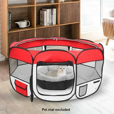 "36"" 600D Oxford Portable Pet Puppy Soft Tent Playpen Dog Cat Folding Crate Red"