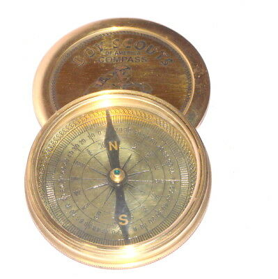 Vintage Boy Scouts Poem Engraved London Compass Old Marine Nautical gift item