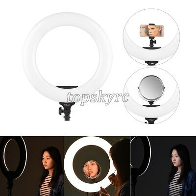 """18"""" LED Ring Light Dimmable SMD 48W 5600K Continuous Lighting Photo Video Kit"""