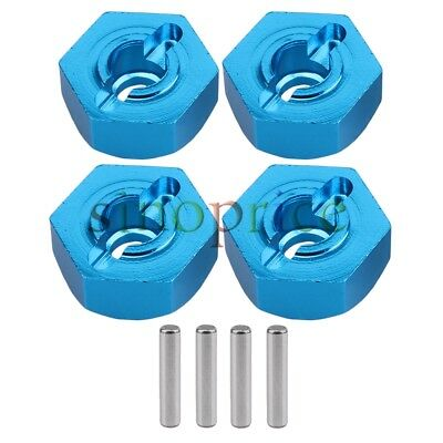 4 Pcs Aluminum Alloy Blue 122042 Wheel Hex Upgrade Parts For RC 1:10 Model Car