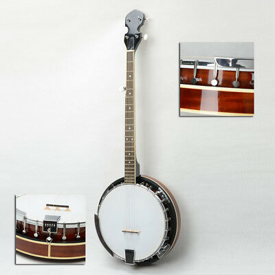 New Metal 5-string Full Size Allen Wrench Banjo With Back 24 Brackets  Head
