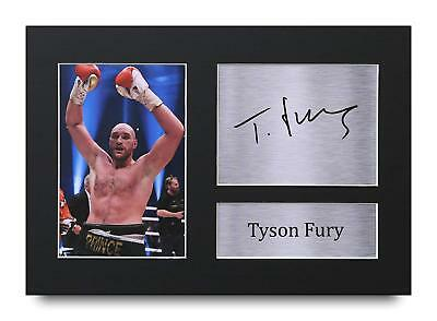 Tyson Fury Gift Signed A4 Printed Autograph Boxing Gifts Print Pictures Photo