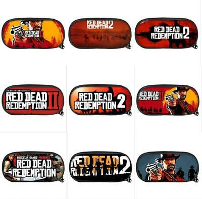 Game Red Dead Redemption 2 Pencil Case Pen Makeup Stationery Bag School Supplies