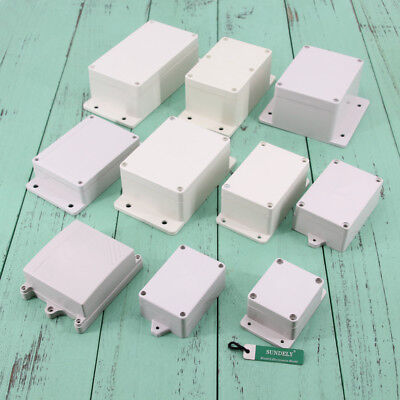 ABS Plastic Box with Mounting Flanges for Electronics Hobby Projects Brand new