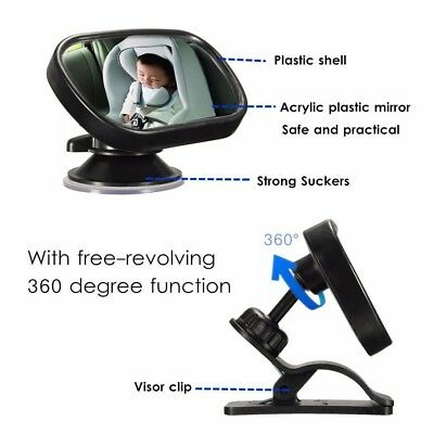 Chic Car Baby Back Seat Rear View Mirror for Infant Kid Toddler Safety View