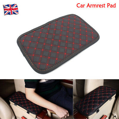 Car Armrest Pad Covers Universal Center Console Seat Armrests Box Pad Red Black