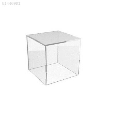 4701 Acrylic Cube Display Box Case Stand Square Sided Perspex Tray Protection