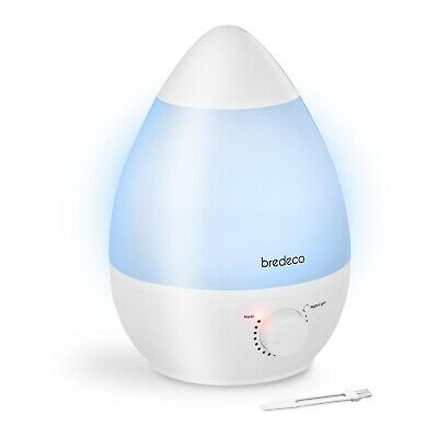 Luftbefeuchter LED-Licht Humidifier Raumbefeuchter Diffuser 7 Farben 23 W