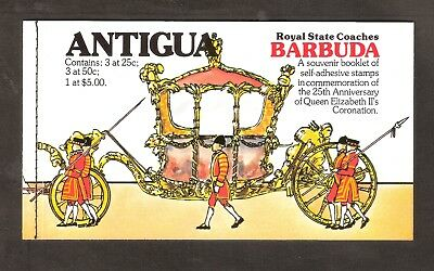 ANTIGUA-BARBUDA 1978 25th ANNIVERSARY of the CORONATION BOOKLET with USED STAMPS
