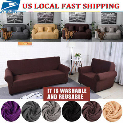 1-4 Seater Comfortable Stretch Elastic Fabric Sofa Cover Sectional Couch Covers