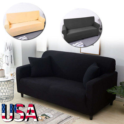 1-4 Seater Stretch Chair Sofa Covers Couch Cover Elastic Slipcover Protector Mat
