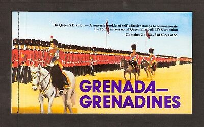 GRENADA GRENADINES 1978 CORONATION ANNIV $7.04 BOOKLET with POSTMARKED STAMPS
