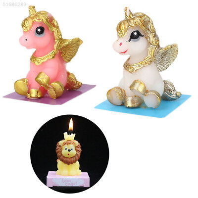 9DB2 5126 Cartoons Candle Unicorn 3 Models Cute Solidified in Cold Weather,