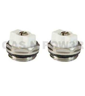 "x2 Manual Radiator AIR Vent Bleed Plug Valve 1/2"" BSP HIGH Quality TWIN PACK"