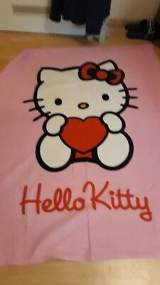 Fleecedecke rosa ca. 195 x 135 cm Hello Kitty