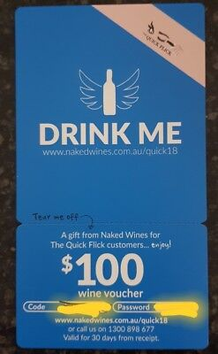 Naked Wines Gift Card Voucher Valued $100